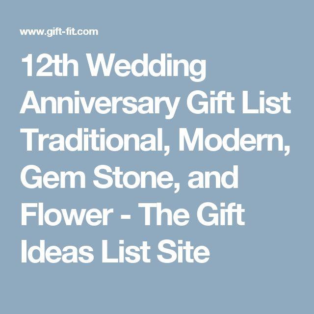 12Th Anniversary Gift Ideas Modern  12th Wedding Anniversary Gift List Traditional Modern