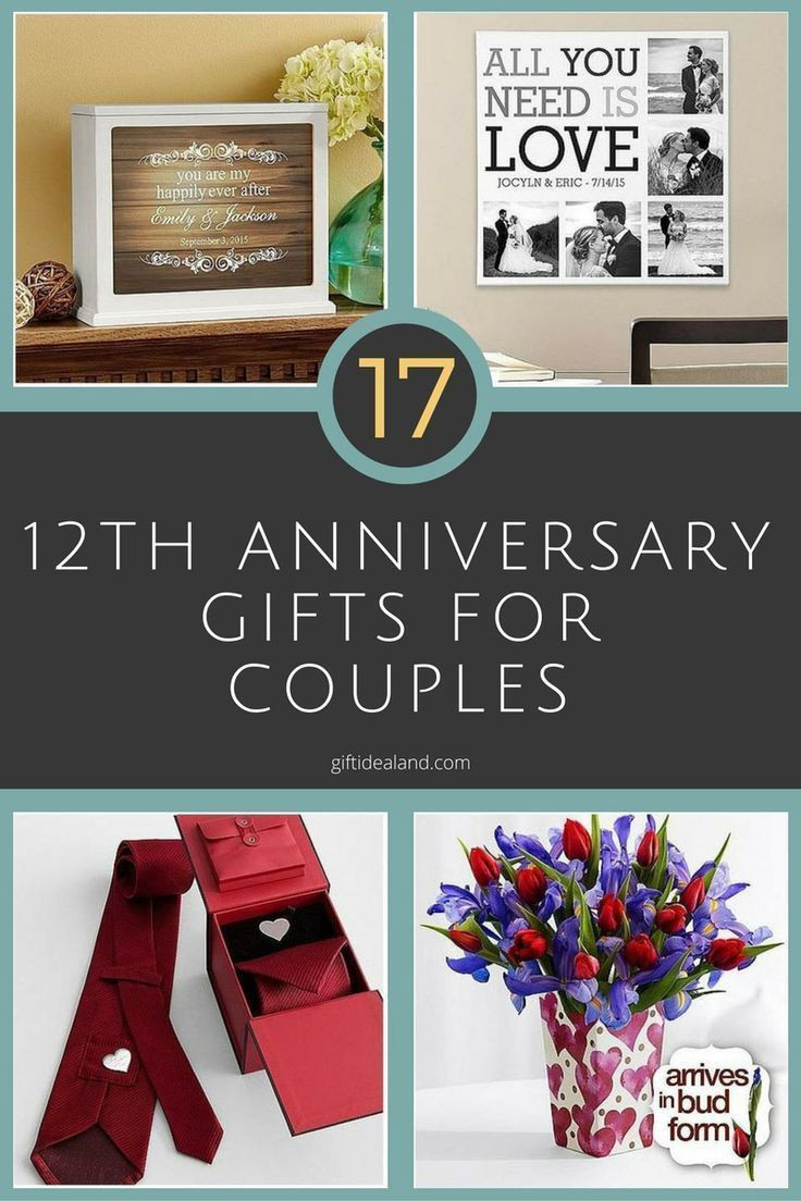 12Th Anniversary Gift Ideas Modern  35 good 12th wedding anniversary t ideas for him & her