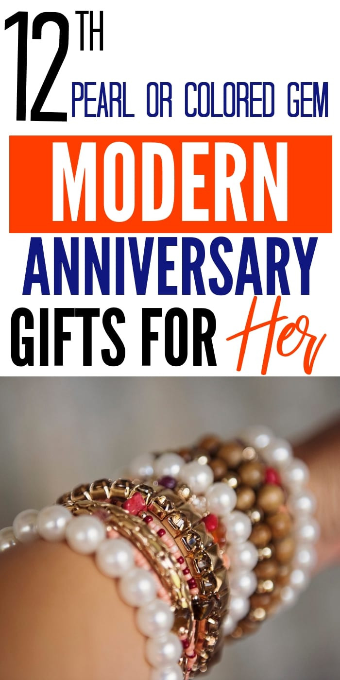 12Th Anniversary Gift Ideas Modern  20 12th Pearls & Colored Gems Modern Anniversary Gifts for
