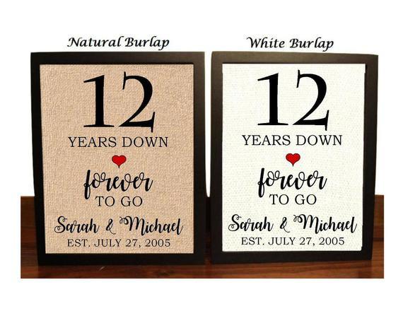 12Th Anniversary Gift Ideas Modern  12th Anniversary Gift 12th Wedding Anniversary Gift Gift