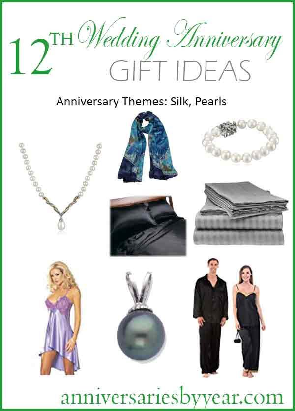 12Th Anniversary Gift Ideas Modern  12th Anniversary Twelfth Wedding Anniversary Gift Ideas
