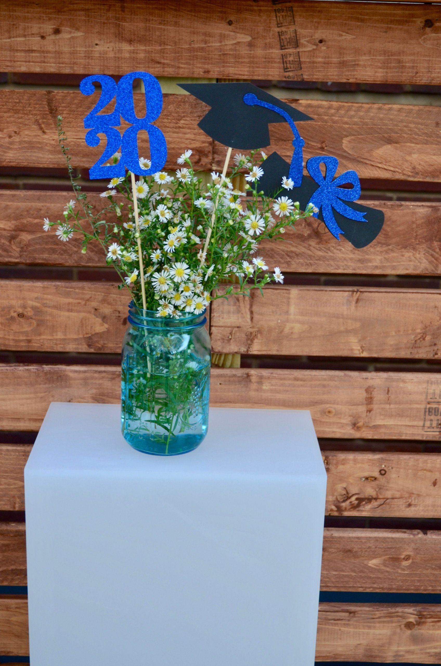2020 Graduation Party Ideas  Graduation party decorations 2020 Graduation Centerpiece