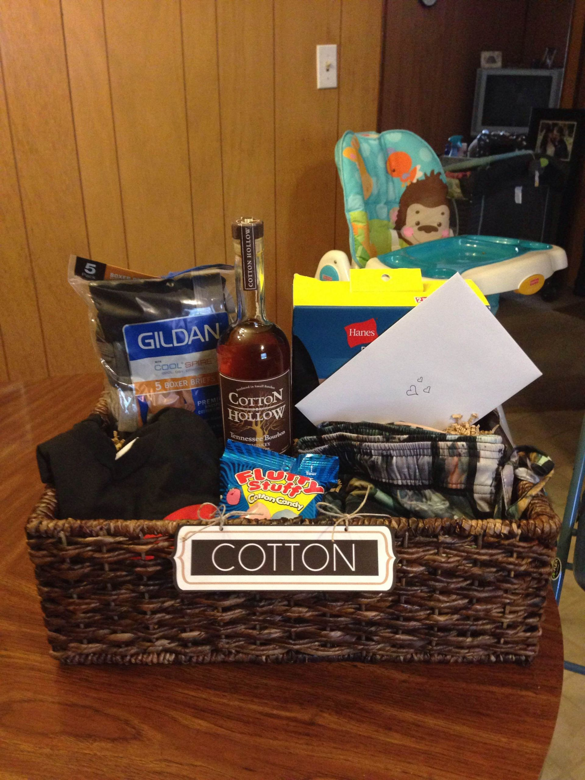 """2Nd Anniversary Gift Ideas For Him  """"Cotton"""" t basket I put to her for my husband for our"""