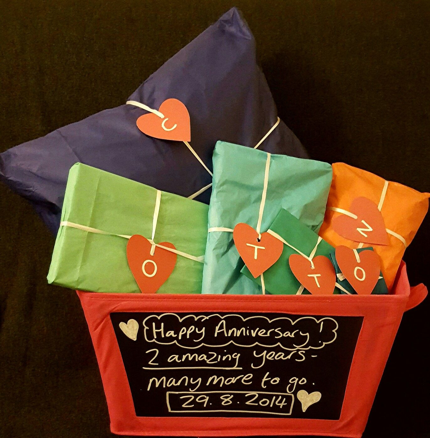 2Nd Anniversary Gift Ideas For Him  2nd anniversary t for hubby using cotton as an acronym