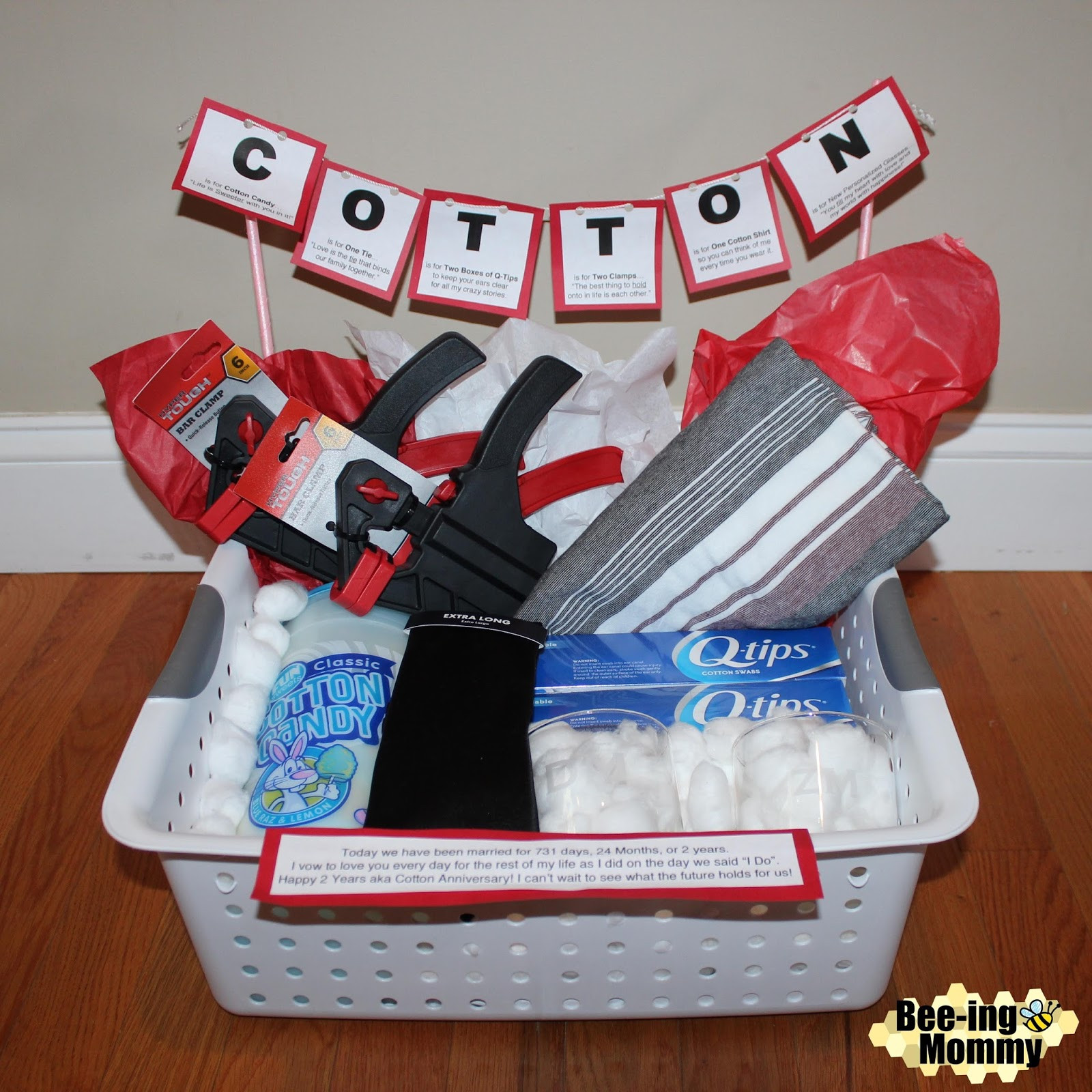 2Nd Anniversary Gift Ideas For Him  Cotton Anniversary Gift Basket plus several more t