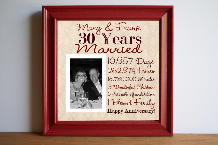 30 Anniversary Gift Ideas  30th Wedding Anniversary Gift Ideas