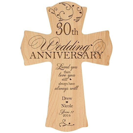 30 Anniversary Gift Ideas  Buy Personalized 30th Anniversary Cross 30th Wedding