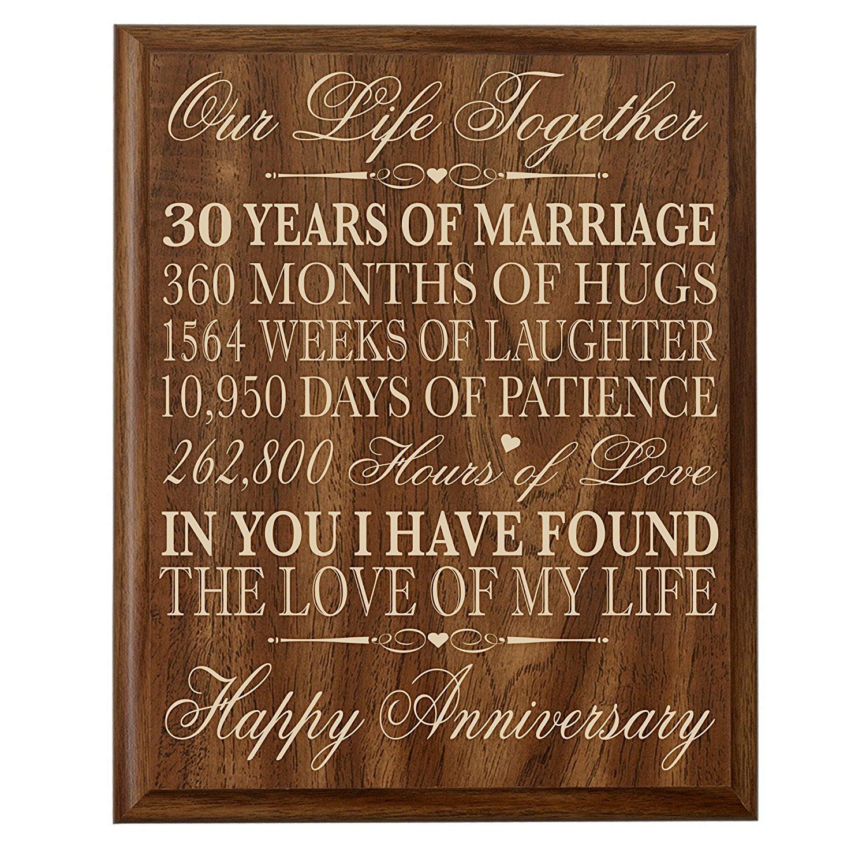 30 Anniversary Gift Ideas  30th Anniversary Gift ideas Couple Parents 30 year