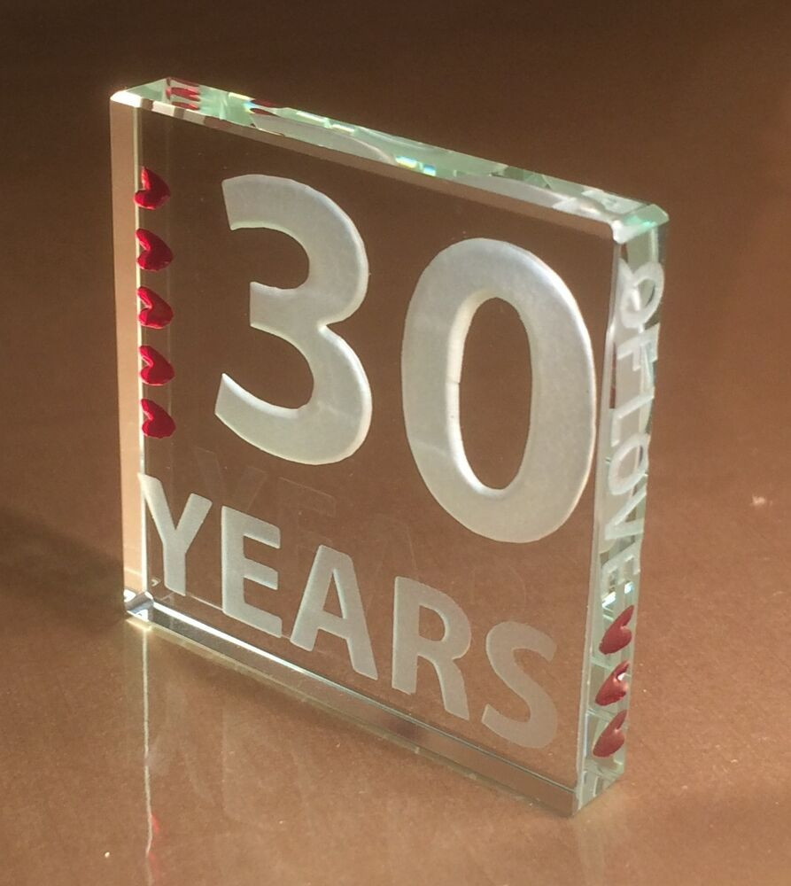 30 Anniversary Gift Ideas  Spaceform 30th Pearl Wedding Anniversary Gifts 30 Years of