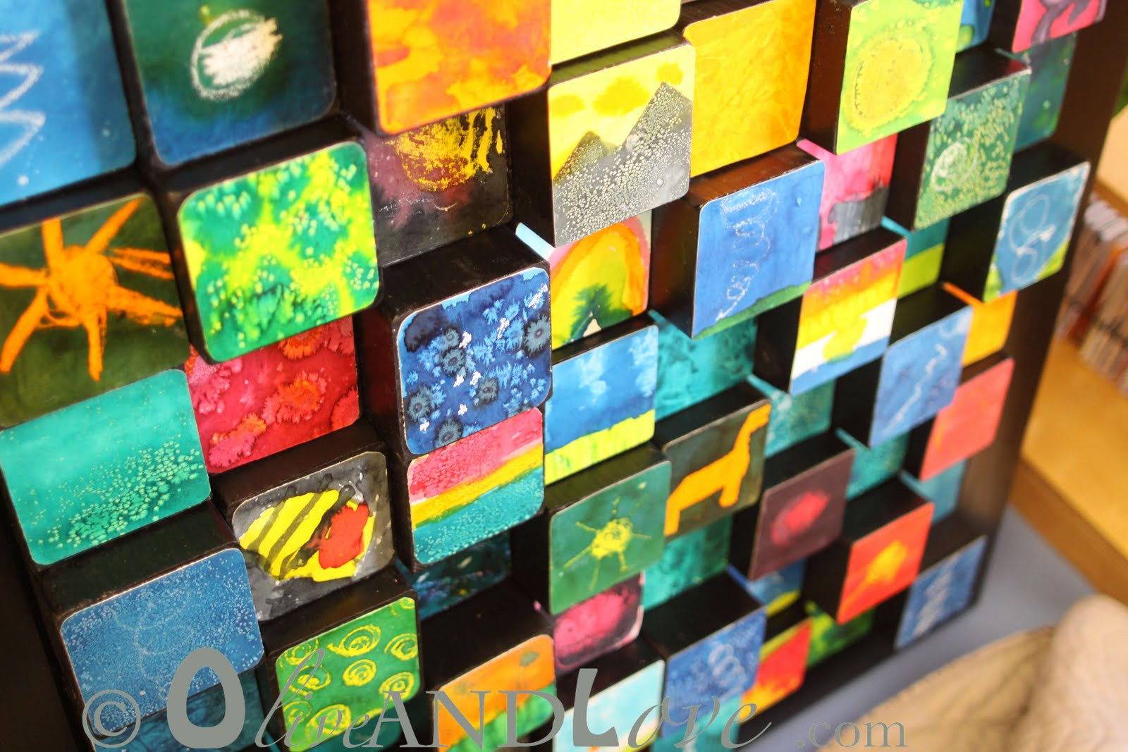 3D Art Projects For Kids  Olive and Love 3D wooden blocks – Children's Auction Art