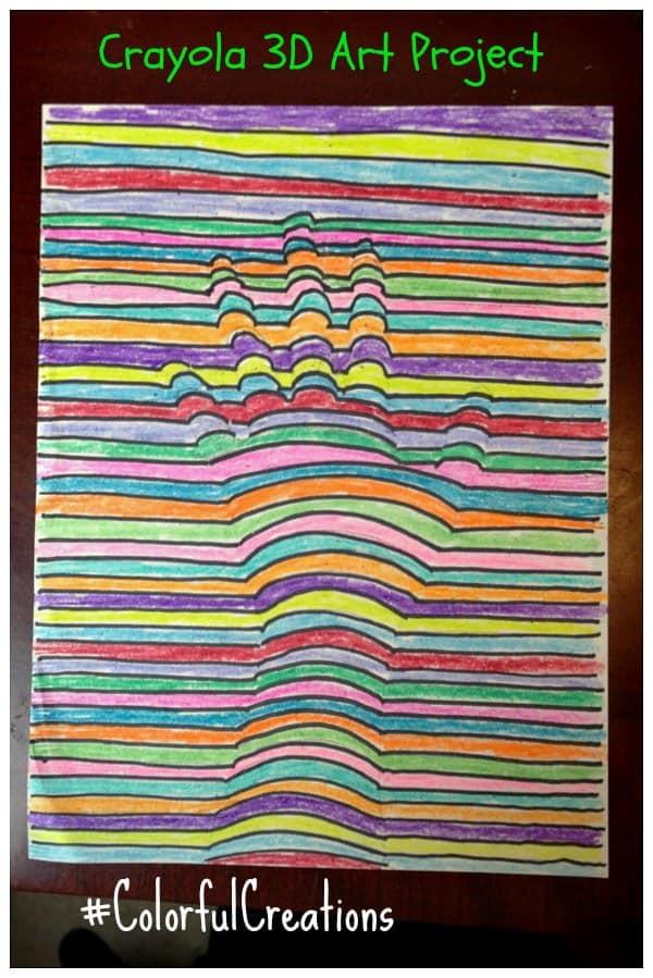 3D Art Projects For Kids  Kids 3D Art Project Idea Using Crayons iSaveA2Z
