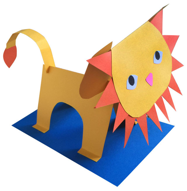 3D Art Projects For Kids  3D Paper Lion Art Projects for Kids