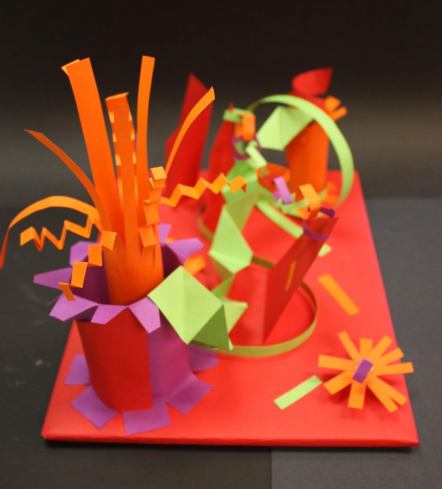 3D Art Projects For Kids  Art for Teachers of Children 130 & 131 271 Paper Sculptures