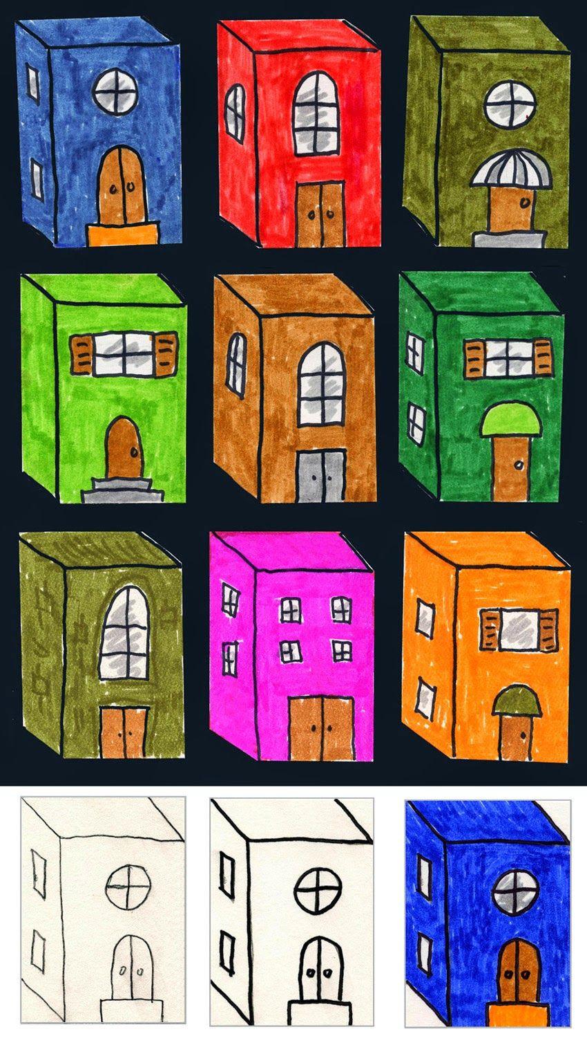 3D Art Projects For Kids  Little 3D Buildings