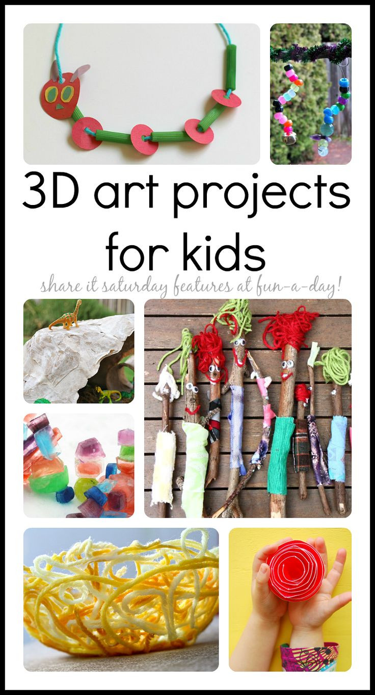 3D Art Projects For Kids  Over 20 3D art projects to try with the kiddos It
