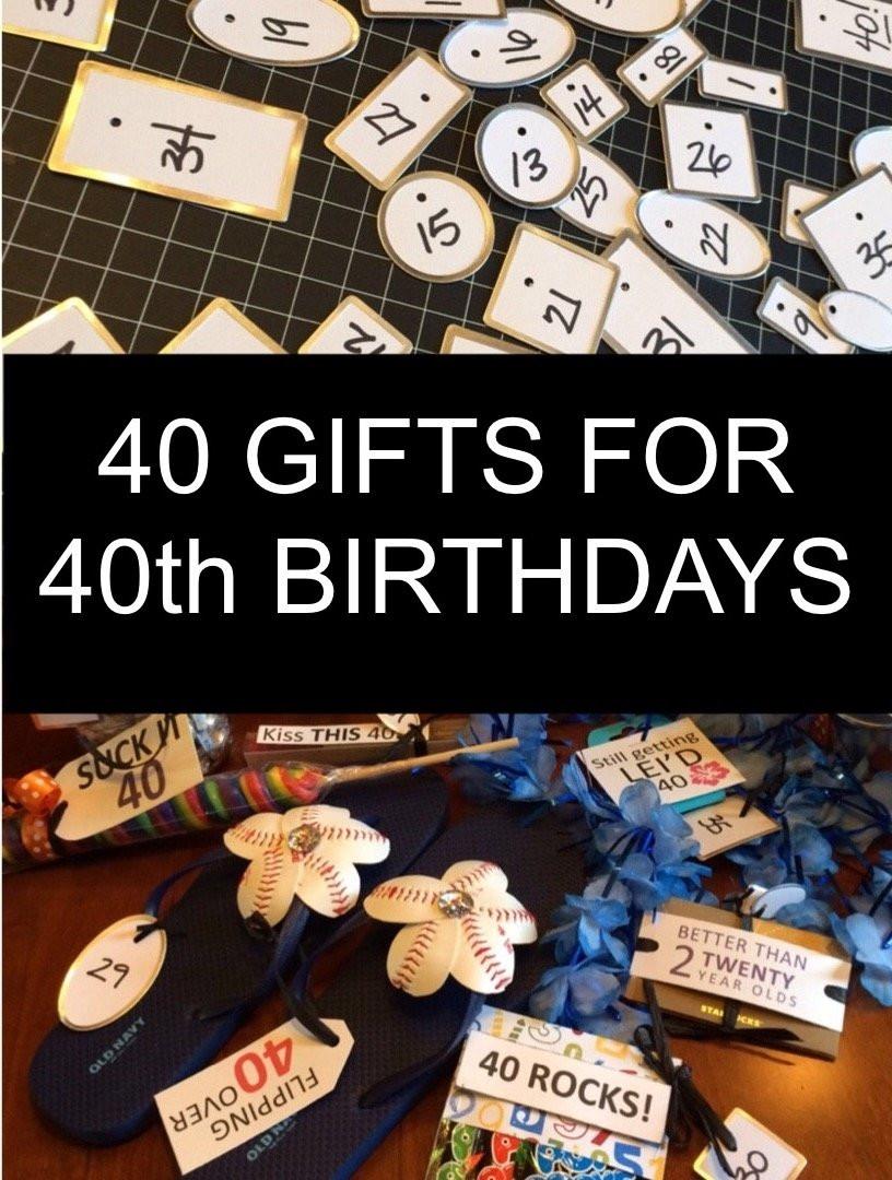 40Th Birthday Gift Ideas For Him  10 Stylish 40Th Birthday Gift Ideas For Husband 2020