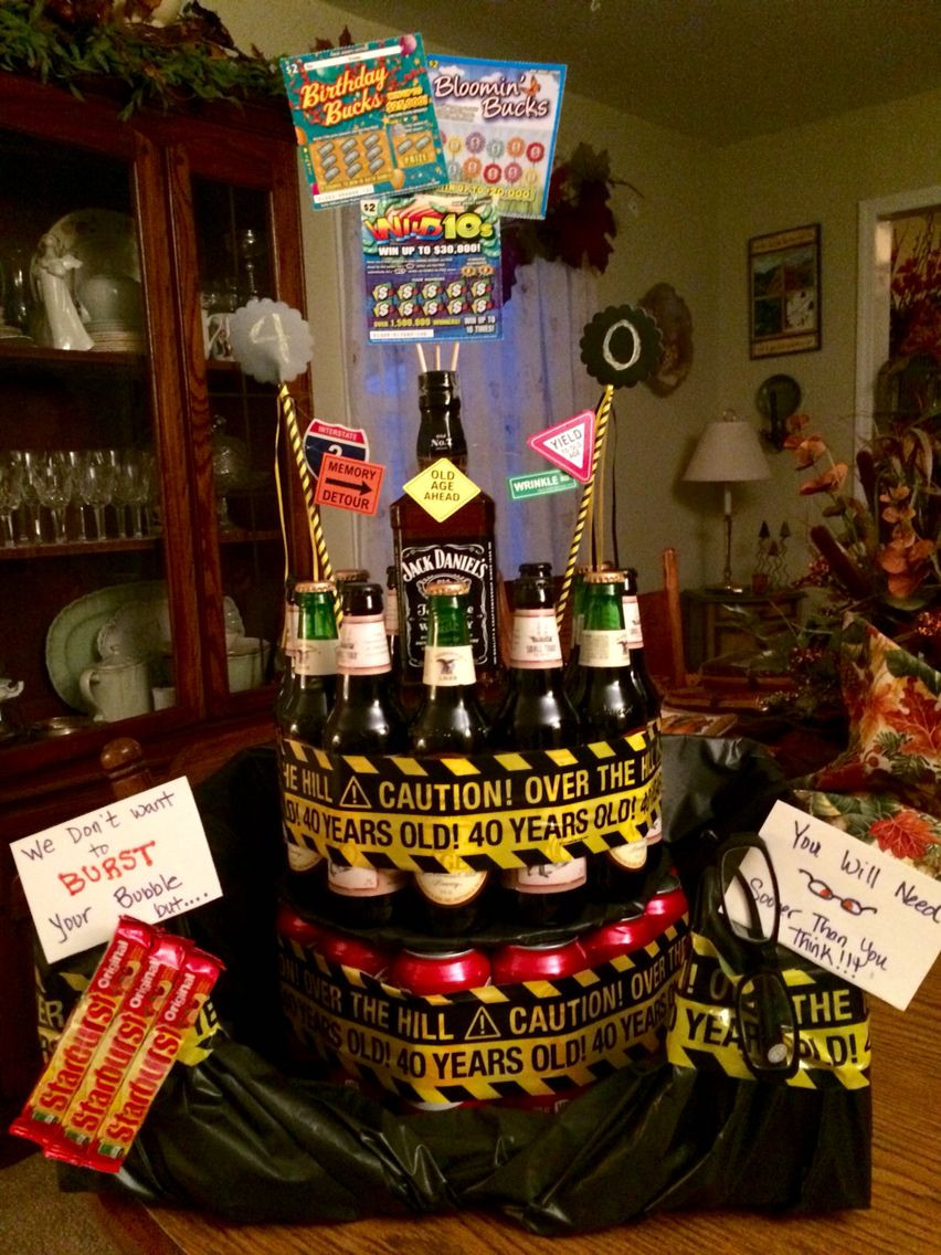 40Th Birthday Gift Ideas For Him  40th Birthday adult cake I put Coke cans on the bottom