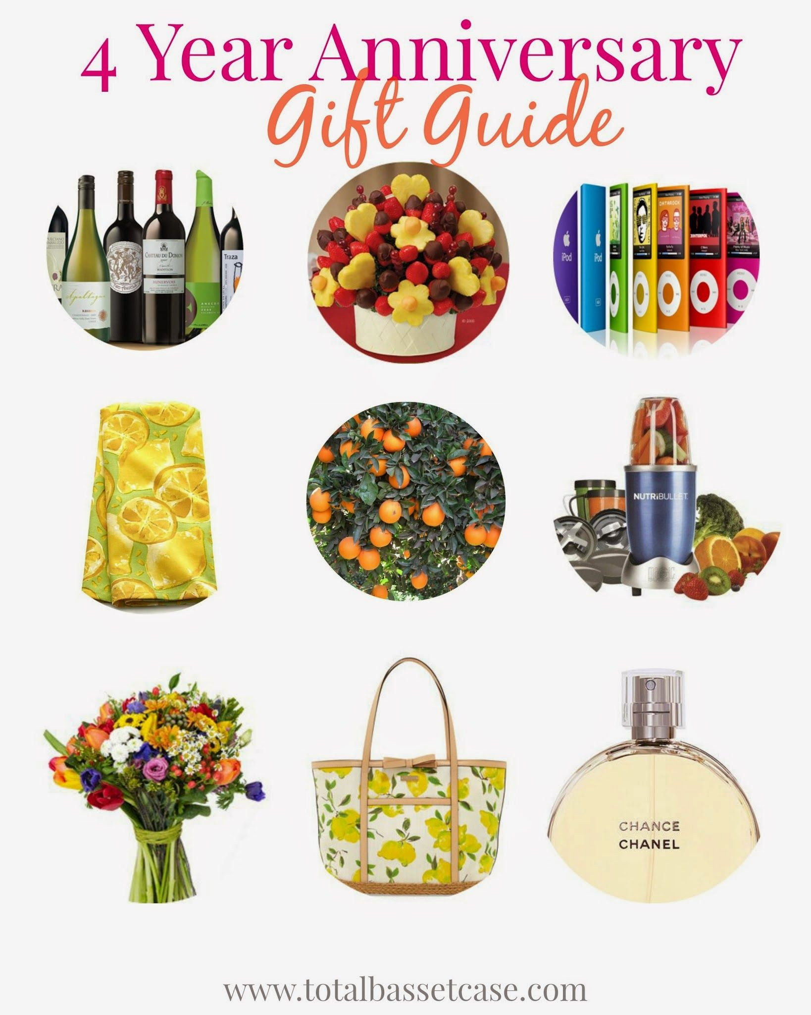 4Th Wedding Anniversary Gift Ideas For Him  Fruit & Flowers 4 Year Anniversary Gift Guide With