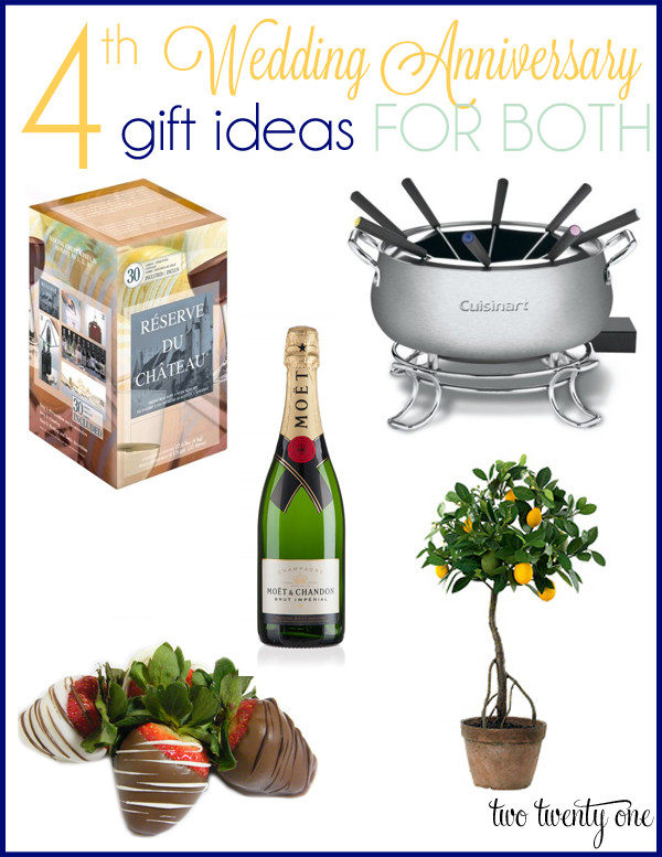 4Th Wedding Anniversary Gift Ideas For Him  4th Anniversary Gift Ideas