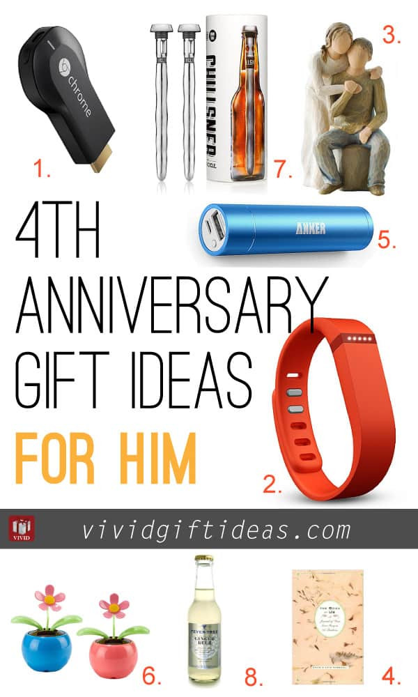 4Th Wedding Anniversary Gift Ideas For Him  4th Wedding Anniversary Gift Ideas Vivid s Gift Ideas
