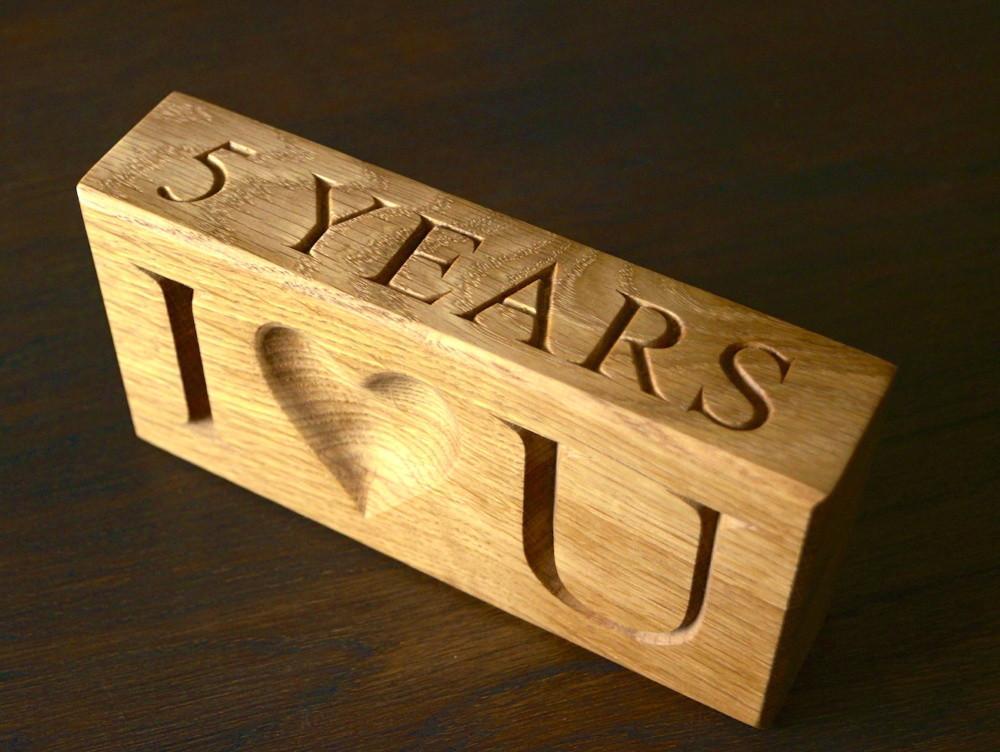 5 Year Anniversary Wood Gift Ideas  5th Wedding Anniversary Wooden Gift Ideas