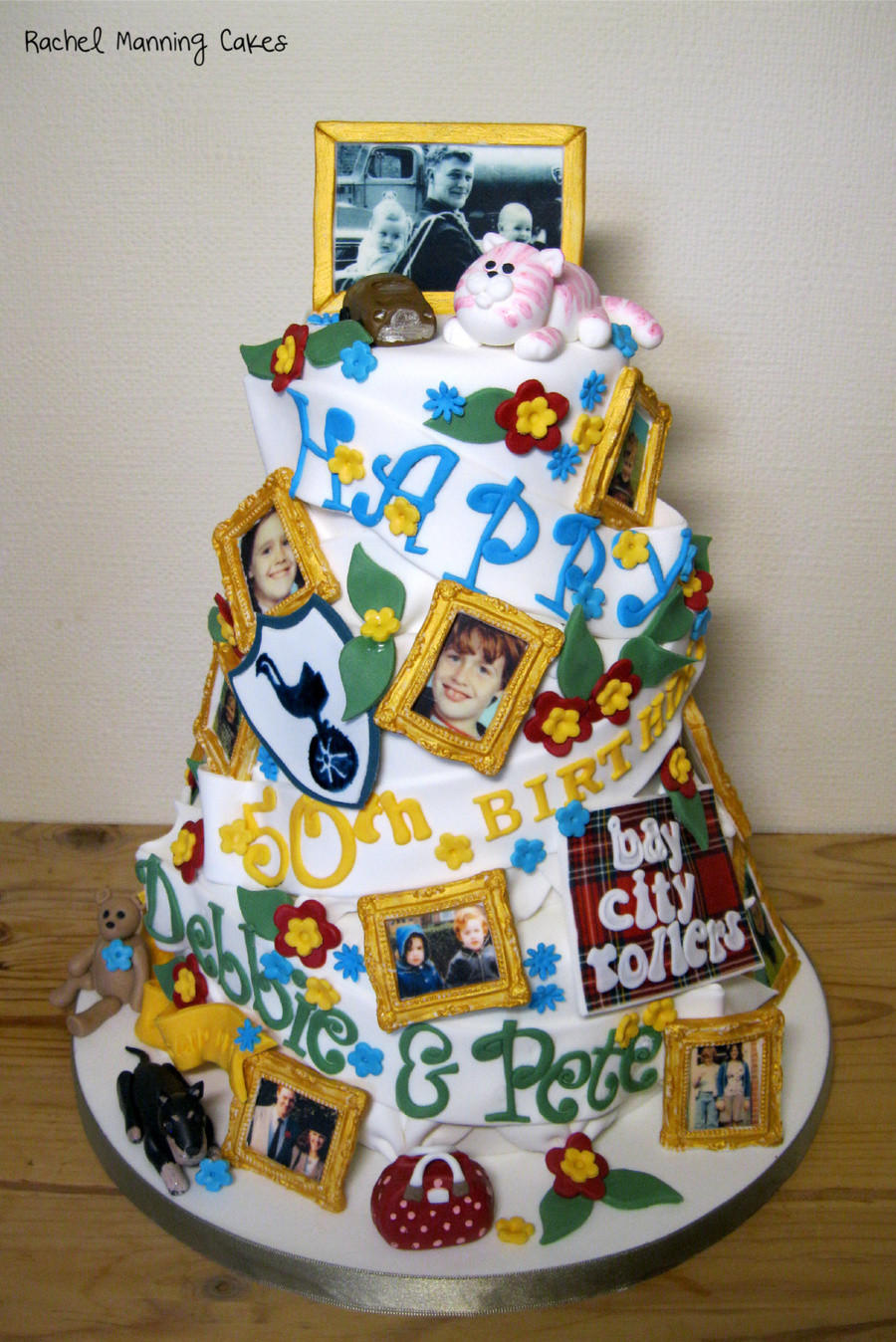 50th Birthday Cake Ideas For Him  Twins 50Th Birthday Cake CakeCentral