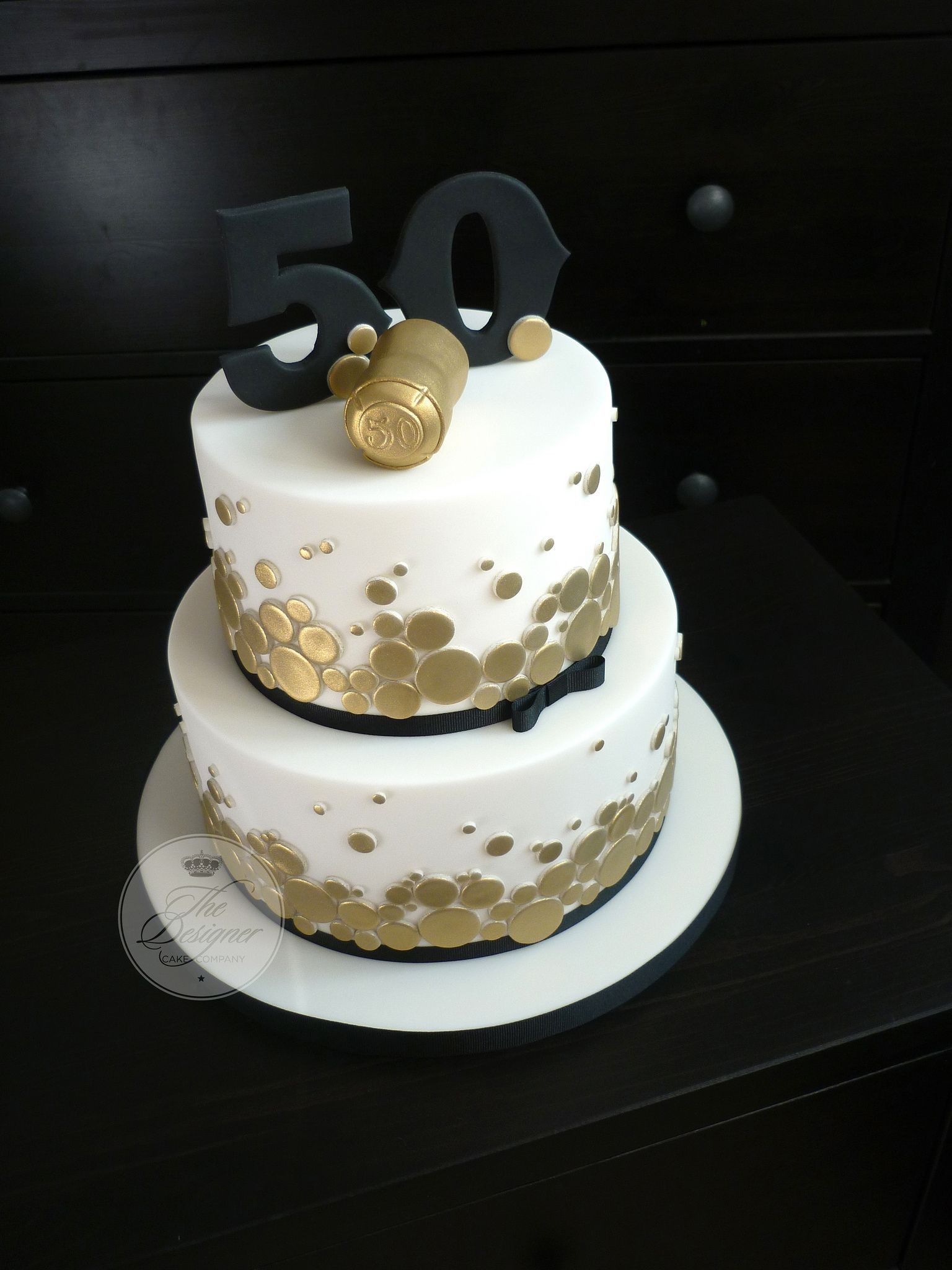 50th Birthday Cake Ideas For Him  Champagne themed 50th birthday cake