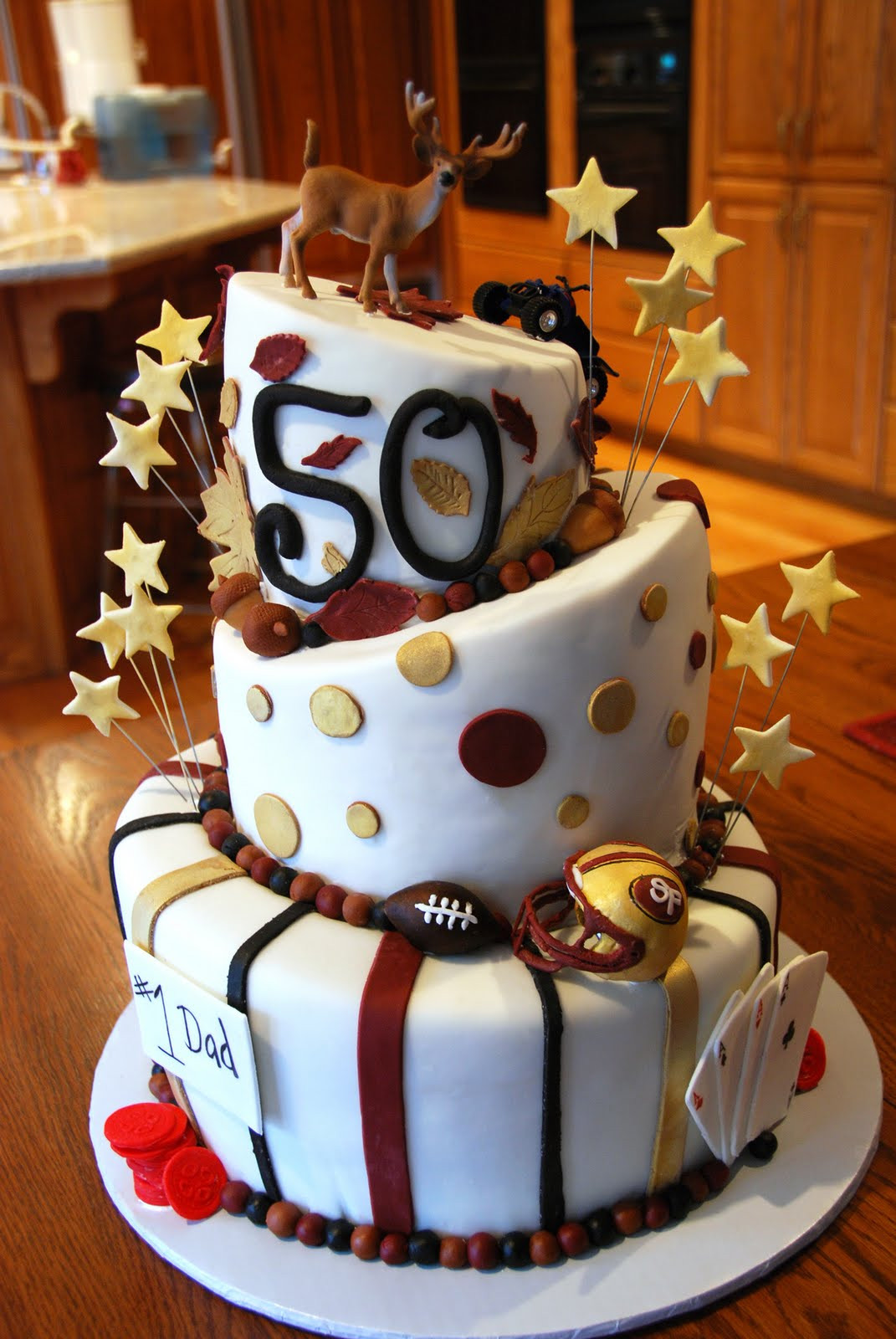 50th Birthday Cake Ideas For Him  Cup ee Cakes 50th Birthday Cake