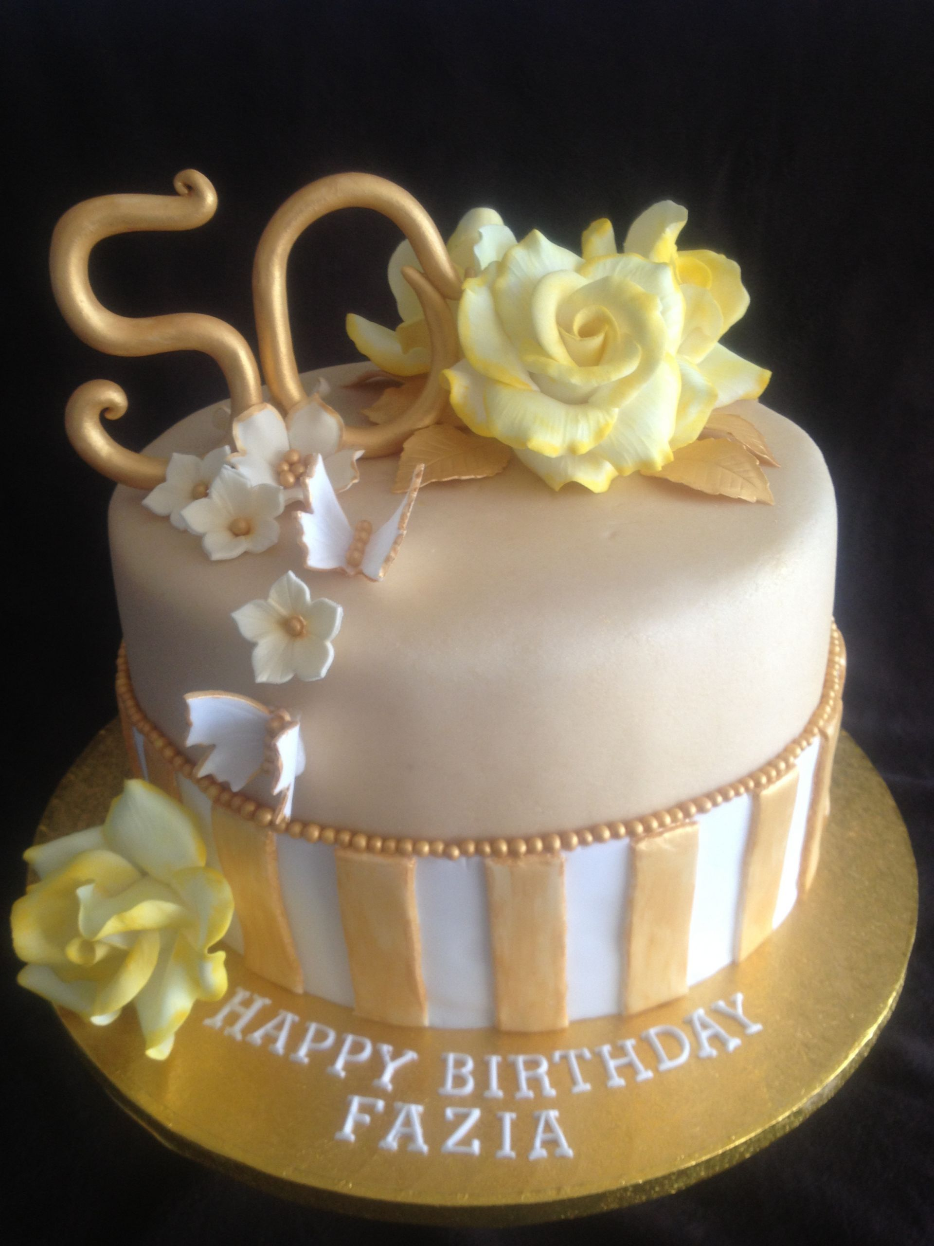 50th Birthday Cakes For Her  50Th Birthday Cakes