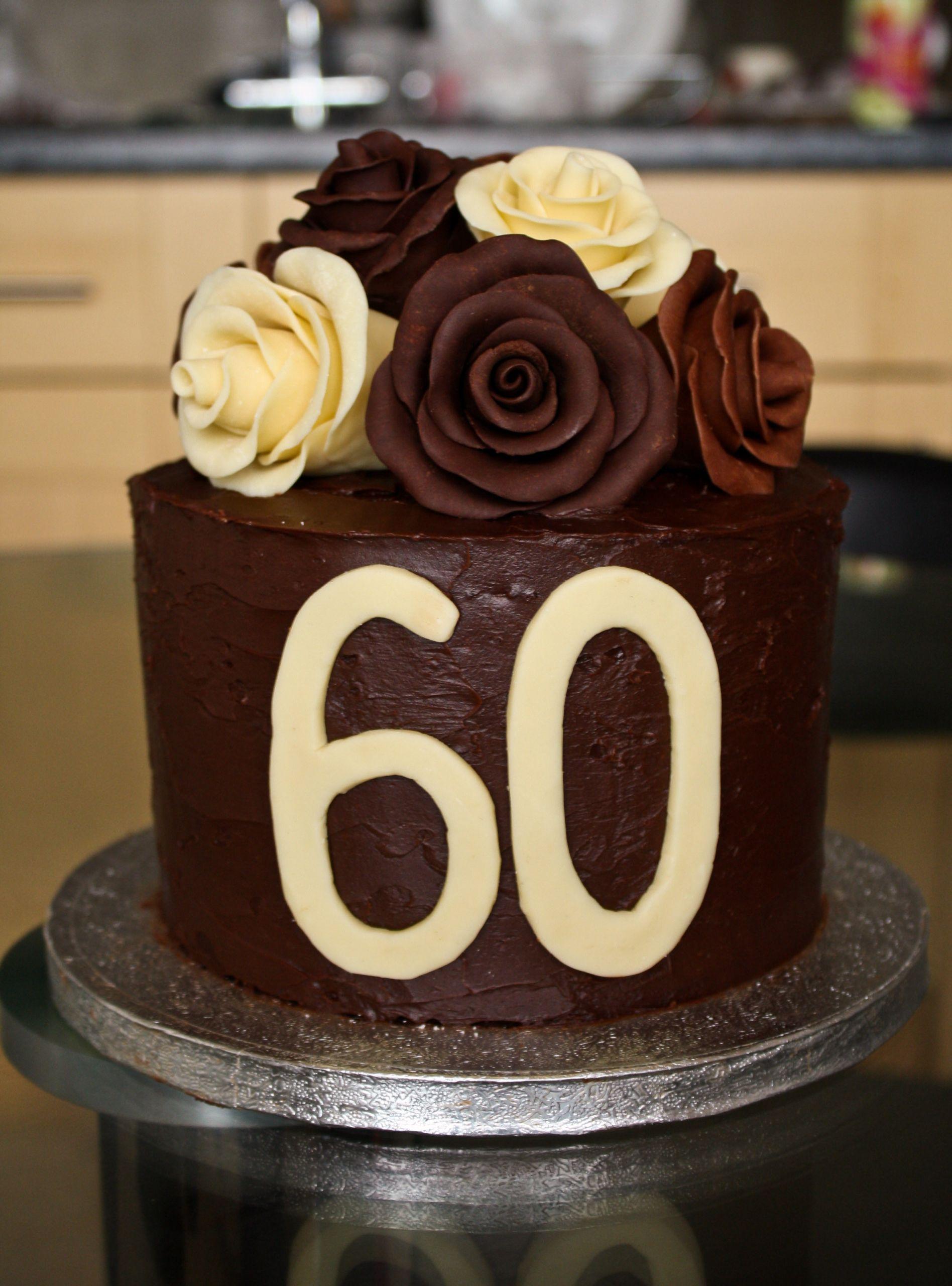 60th Birthday Cake Ideas  Chocolate Roses Birthday Cake