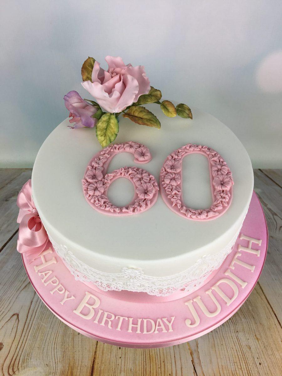 60th Birthday Cake Ideas  Pink Roses 60th Birthday Cake Mel s Amazing Cakes