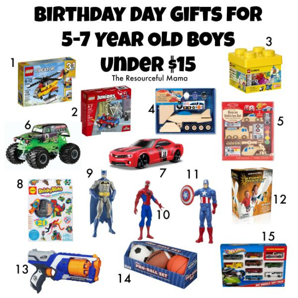 7 Year Old Boy Birthday Gift  Birthday t guide for 5 7 year old boys all under $15