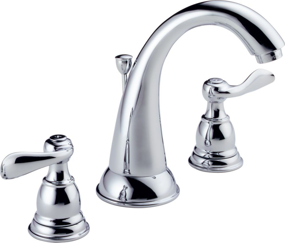 8 Inch Bathroom Sink Faucets  Delta Foundations 8 Inch Widespread 2 Handle High Arc