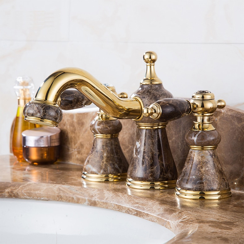 8 Inch Bathroom Sink Faucets  New arrival high quality gold finished luxury 8 inch