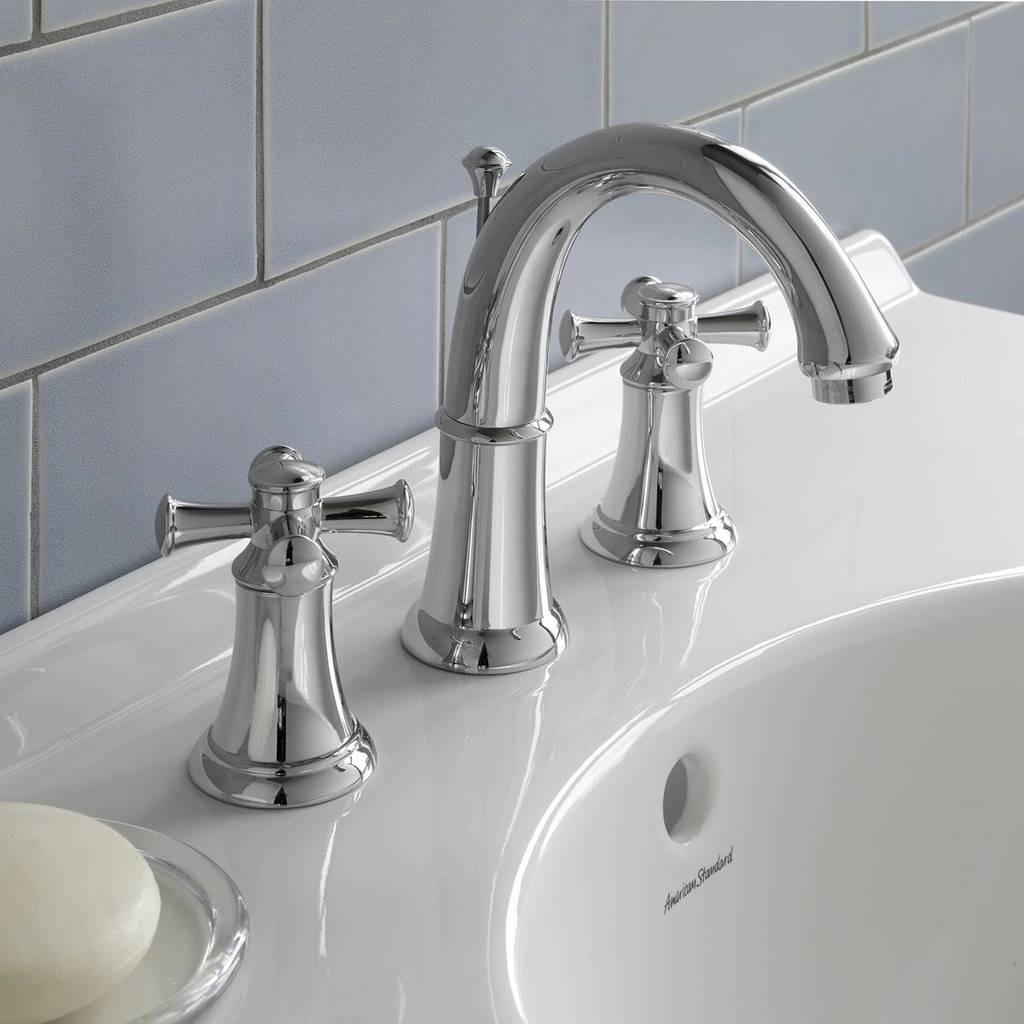 8 Inch Bathroom Sink Faucets  Portsmouth 2 Handle 8 Inch Widespread High Arc Bathroom