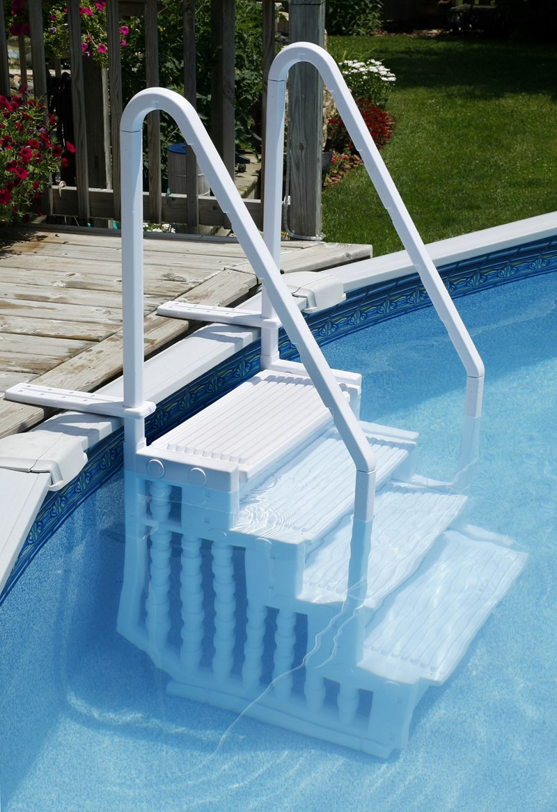 Above Ground Pool Stairs  Choosing a Ladder or Steps for an Ground Pool