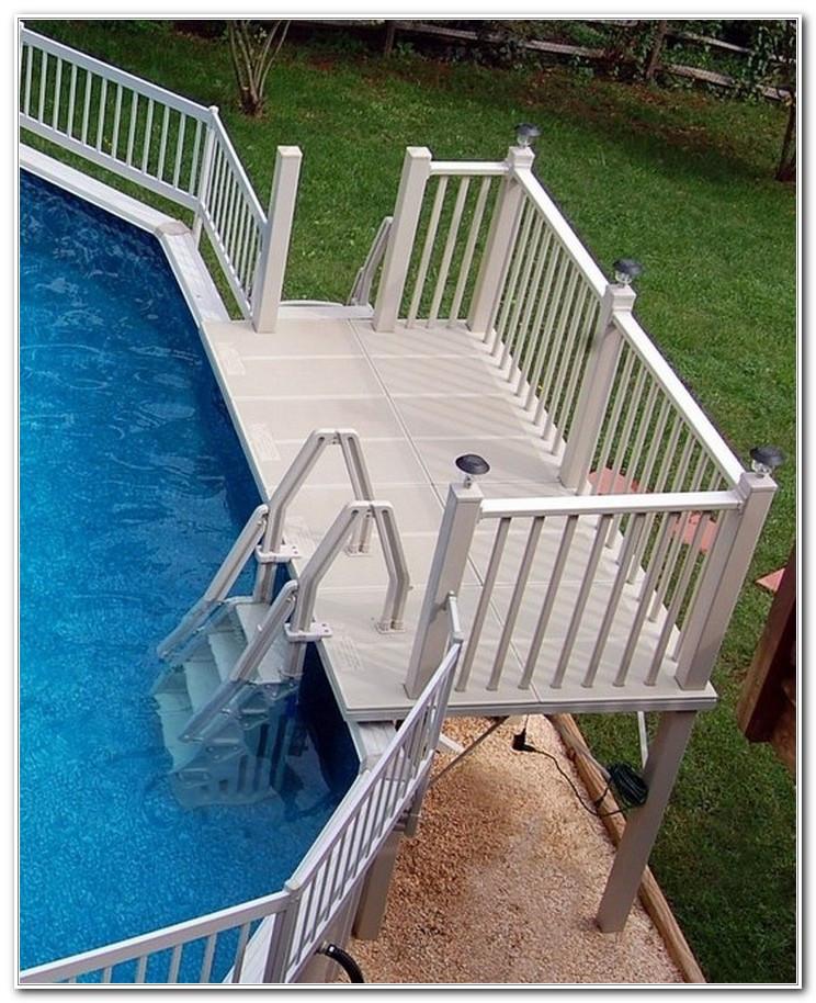 Above Ground Pool Stairs  Ground Pool Deck Ladder Steps Decks Home