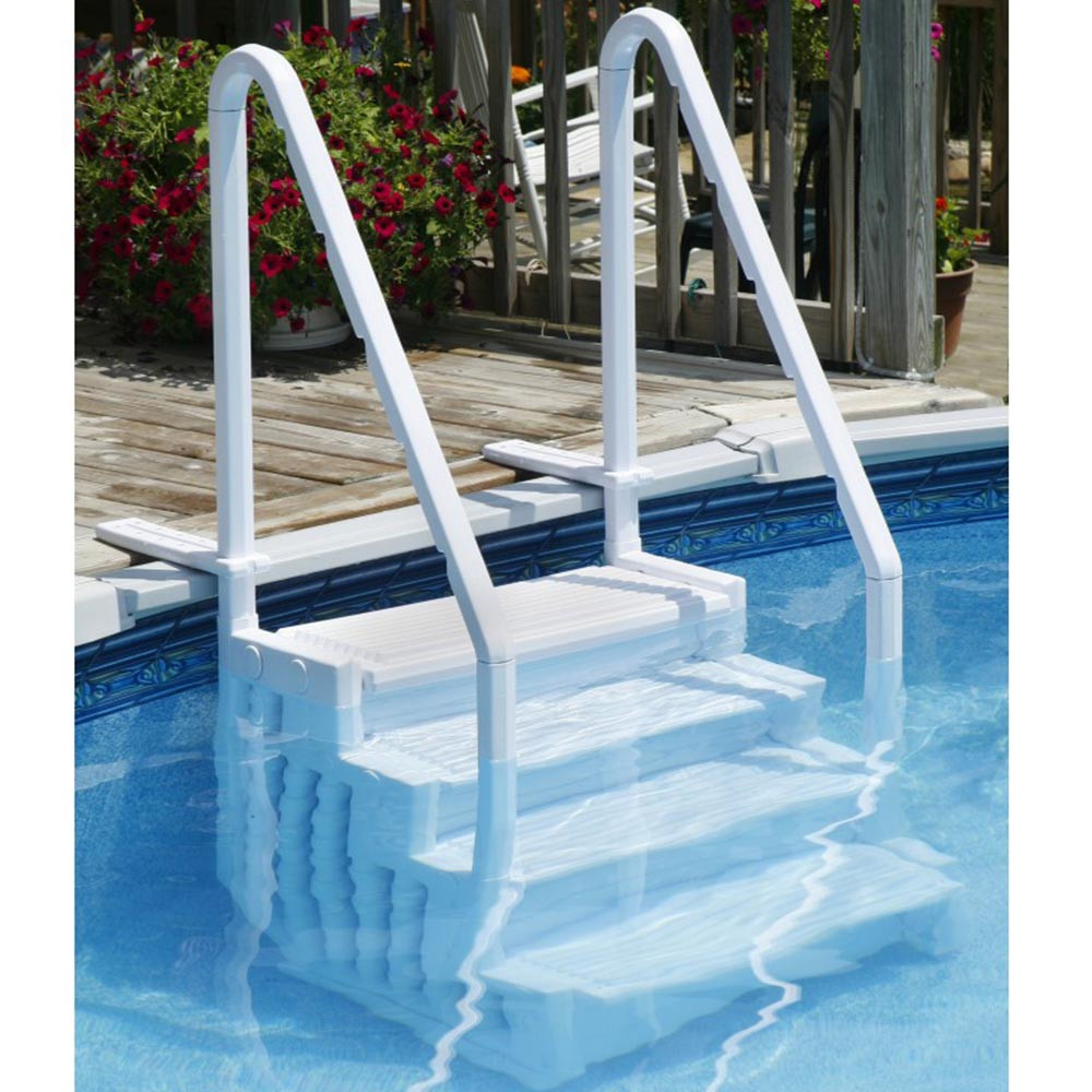 Above Ground Pool Stairs  Easy Ground Swimming Pool Steps by BlueWave