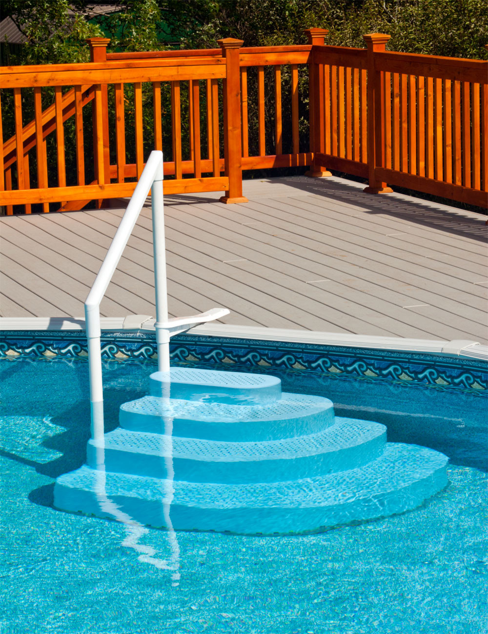 Above Ground Pool Stairs  Ground Pool Steps and Ladders