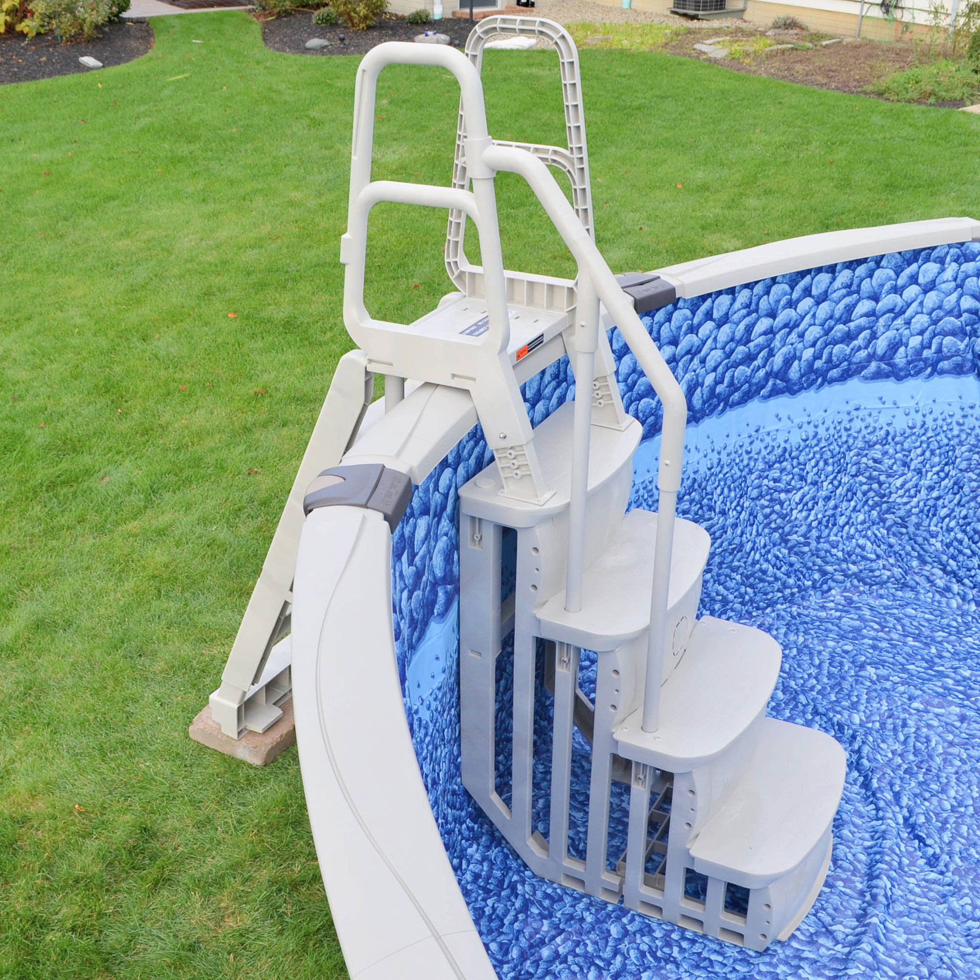 Above Ground Pool Stairs  Main Access T Smart Step Pool Entry for Ground