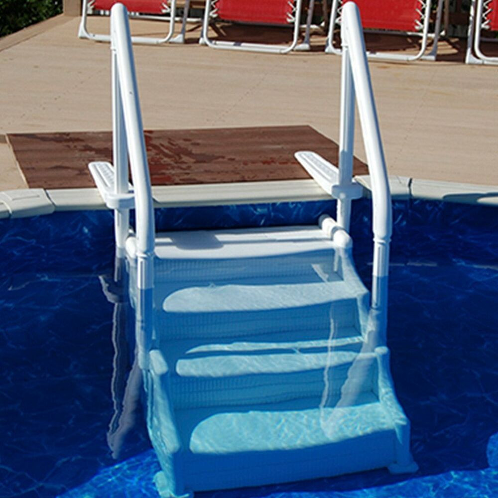 Above Ground Pool Stairs  Mighty Step Ground Pool Steps