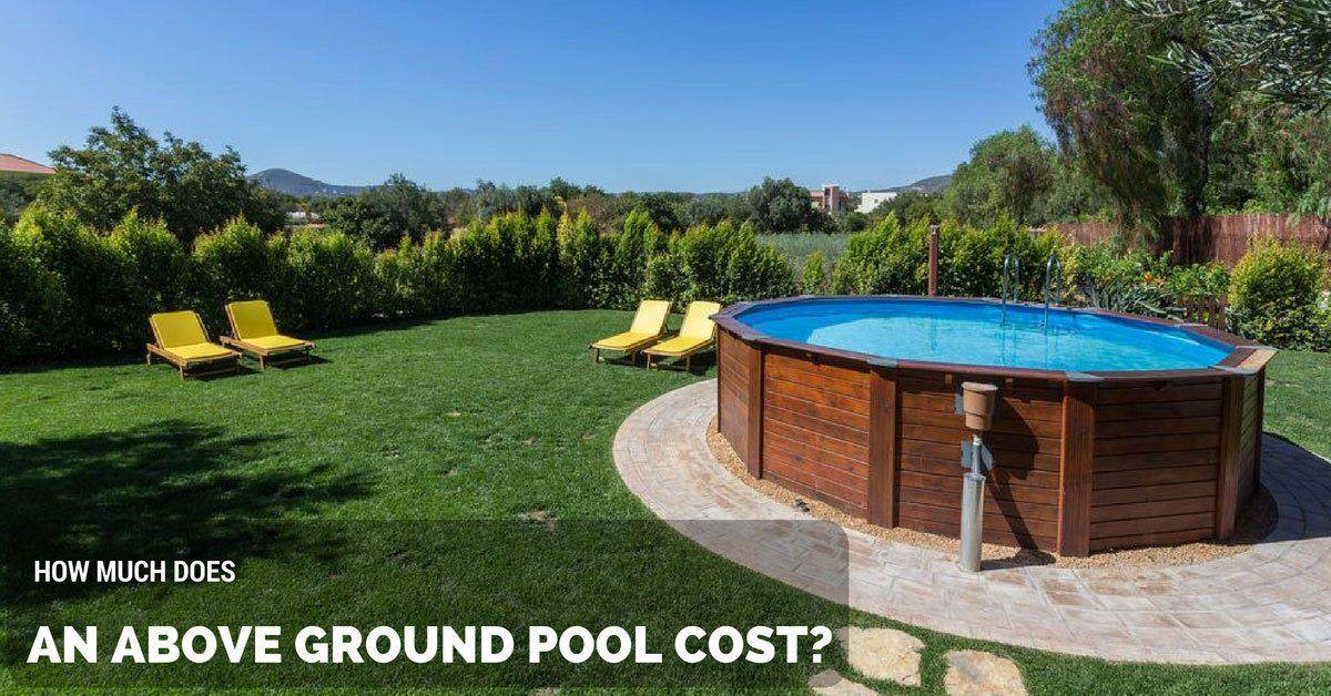 Above Ground Swimming Pool Cost  How Much Does an Ground Pool Cost The Rex Garden