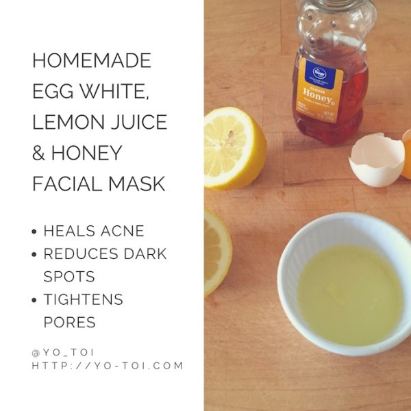 Acne Masks DIY  Egg White Lemon Juice & Honey Facial Mask for Acne Scars