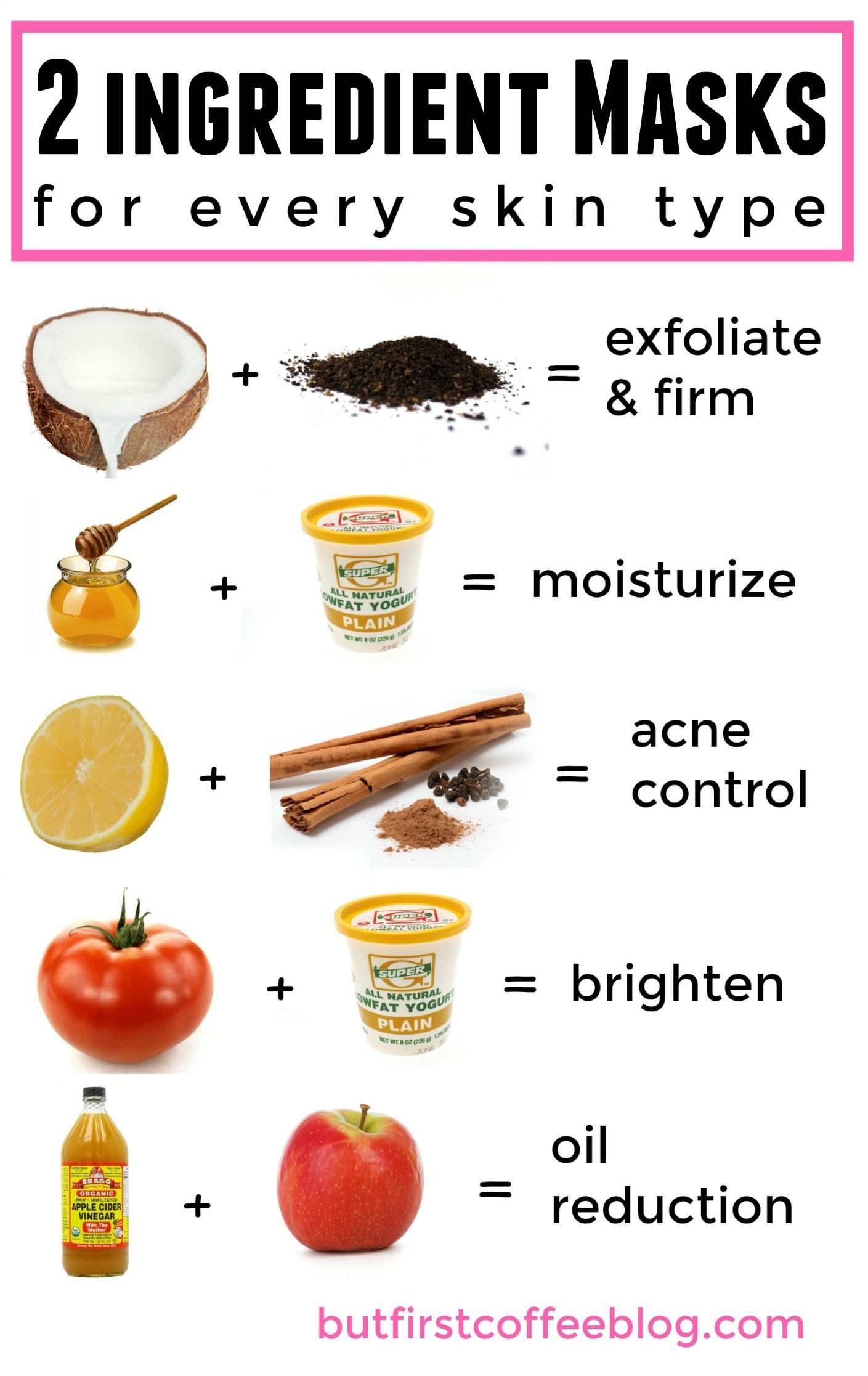 Acne Masks DIY  Homemade acne mask Masks