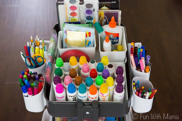 Art Kit For Toddlers  Kids Art Cart With Ikea Raskog Fun with Mama