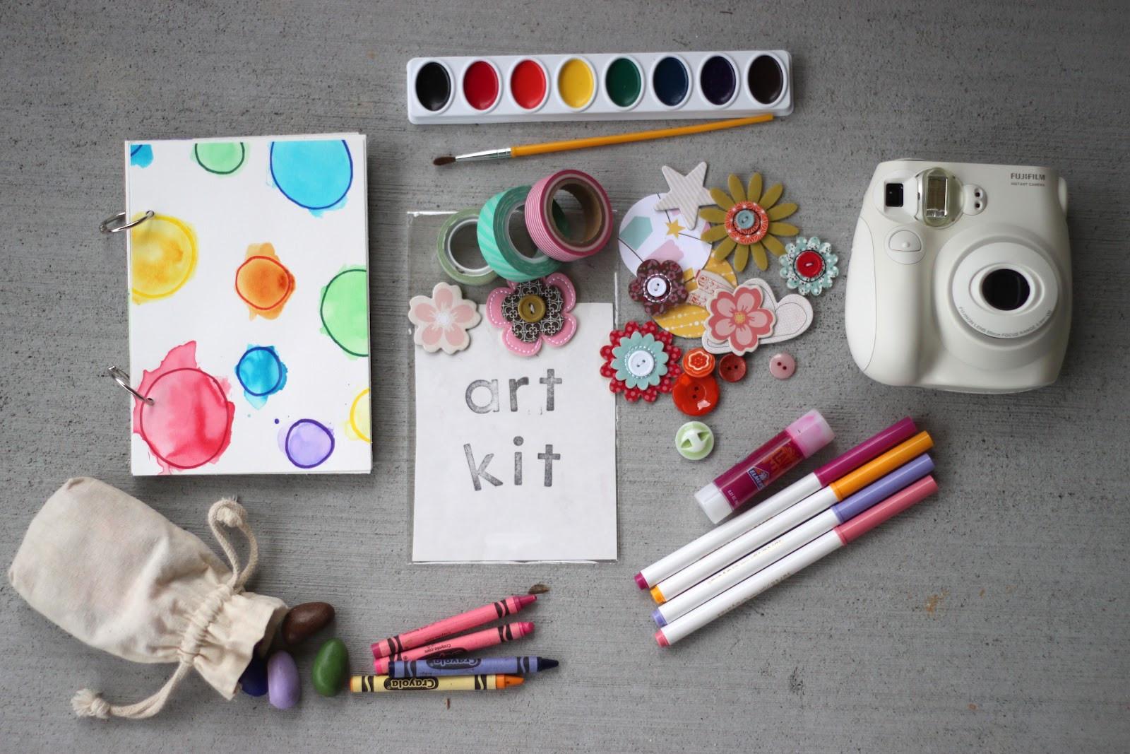 Art Kit For Toddlers  Playing House Kids Travel Art Kit