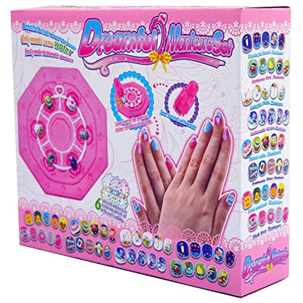 Art Kit For Toddlers  Kids Nail Art Stickers Kit Makeup Set Gifts For Girls Ages