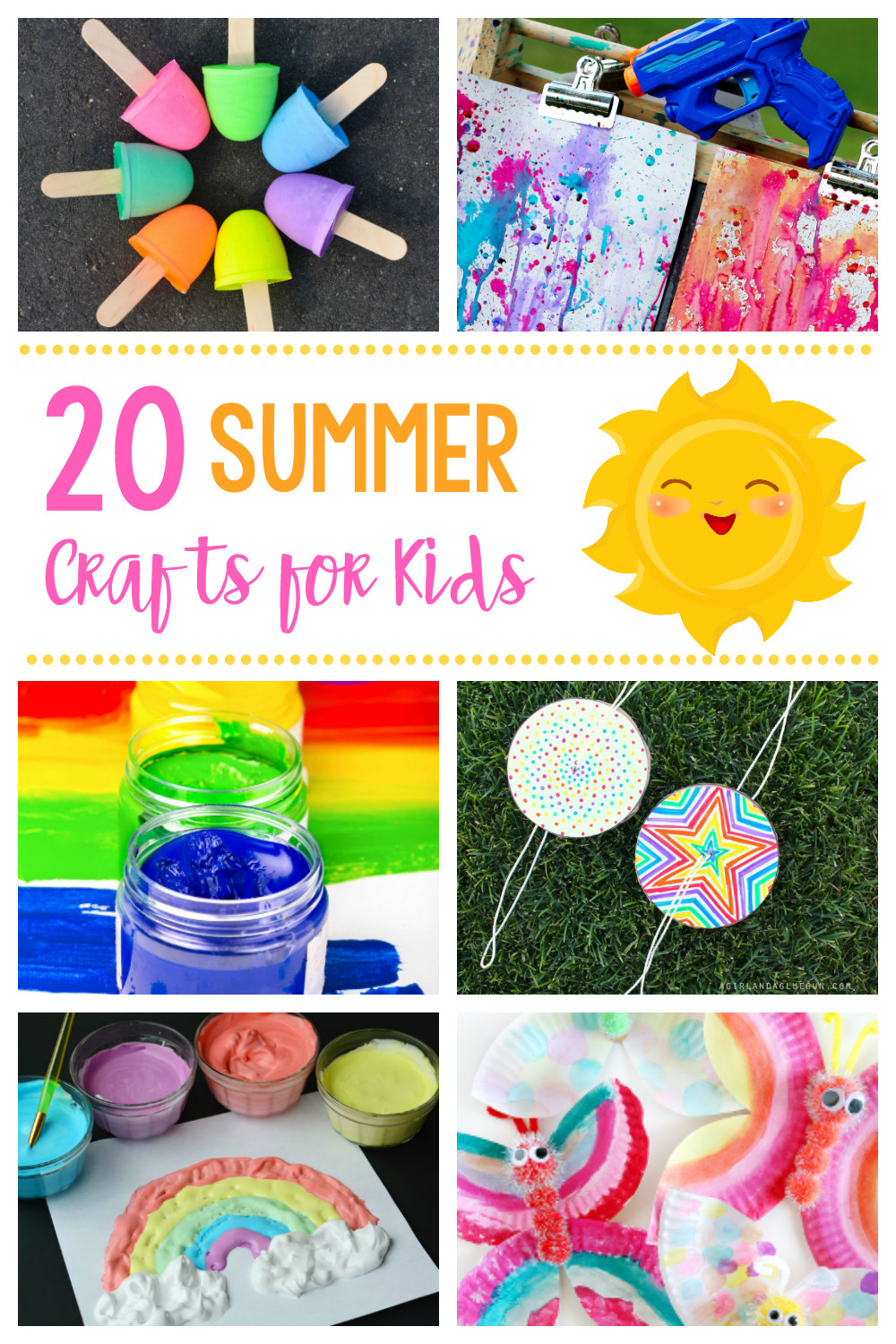 Arts And Crafts For Little Kids  20 Simple & Fun Summer Crafts for Kids