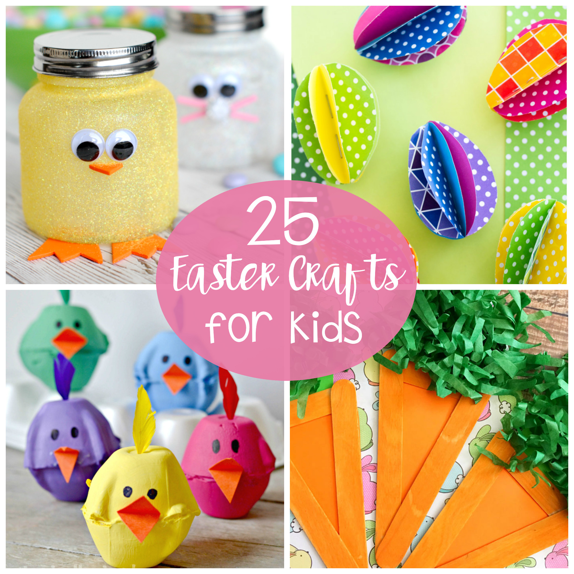 Arts And Crafts For Little Kids  25 Cute and Fun Easter Crafts for Kids Crazy Little Projects
