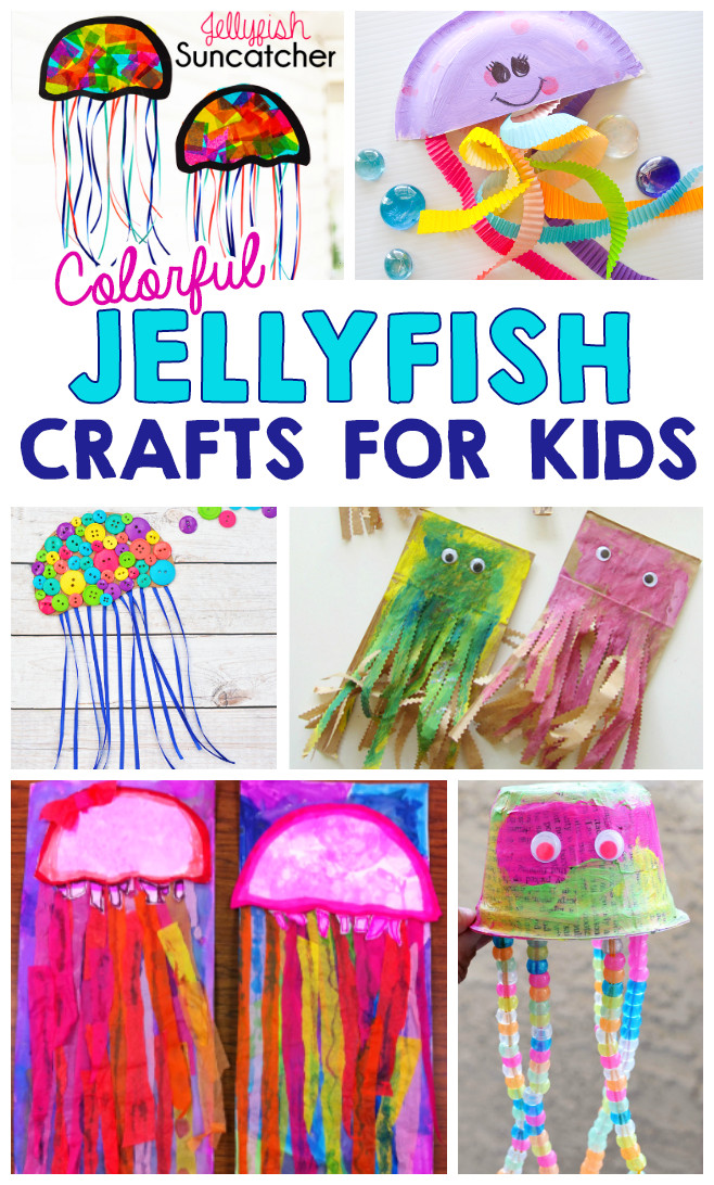Arts And Crafts For Little Kids  Colorful Jellyfish Crafts For Kids